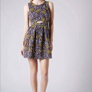 TopShop Cut Out Pineapple Dress